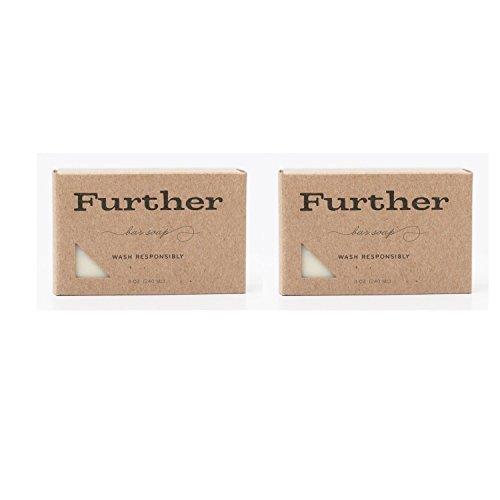 Further Glycerin Bar Soap Best Natural cleanser and Deep Moisturizer 2 Pack 8oz