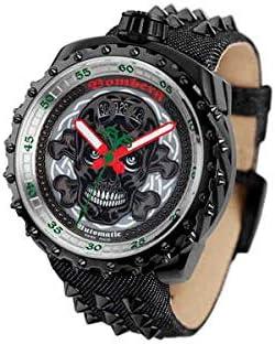 [ボンバーグ] メンズ 腕時計 自動巻き 懐中時計 ポケットウォッチ ボルト68 バダス リミテッドエディション オートマチック BOLT-68 BS45APBA.039-3.3 デニムストラップ ダークグレイ 灰