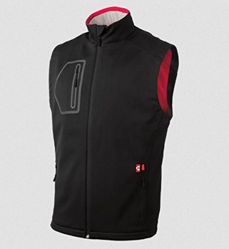 Gerbing's Men's Mountain Sport SoftShell Vest-Black/Red-2XL