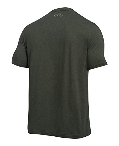 Under Armour Men's Charged Cotton Left Chest Lockup T-Shirt, Artillery Green Medi /Tan Stone, Small by Under Armour (Image #1)