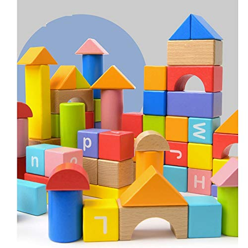Lxrzls Large Wooden Building Blocks-Preschool Education for Toddler Children-Stacking Toys-Wooden Shape to Build Blocks Children's Educational Toys by Lxrzls (Image #3)