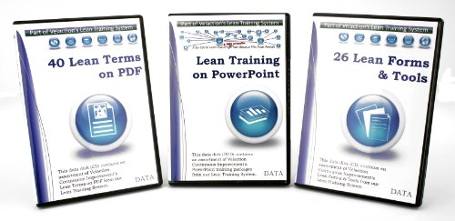 Lean PowerPoint Training Pack (28 PowerPoint Presentations, 26 Lean Forms & Tools, 40 Lean Terms on PDF)