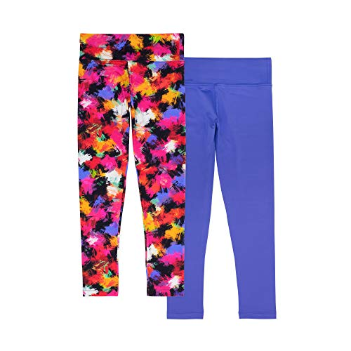 194ea6b8aa6 Lucky & Me Madisyn Girls Athletic Leggings, 2-Pack, Tagless, Full Length,  Gymnastics & Dancewear, Wide Waistband, Graffitti, 9/10