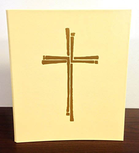 Ceremonial Binder - Series 2 - Ivory with Gold Cross (1-inch Spine)
