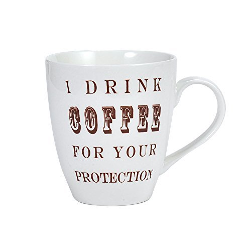 Pfaltzgraff Everyday I Drink Coffee For Your Protection Cup Coffee Mug 20 Ounces