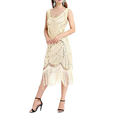 Formal Evening Dress 1920s Sequin Mermaid Formal Long Flapper Gown Party Wedding