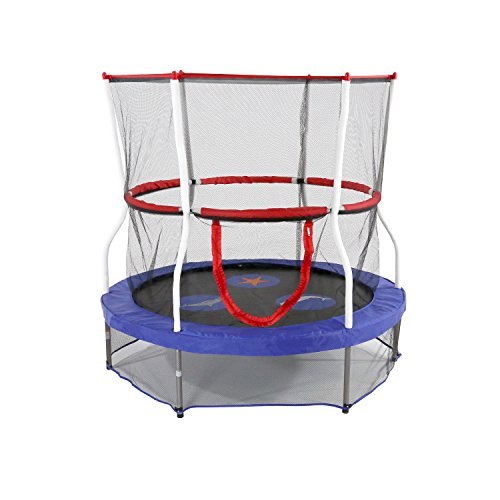 Skywalker Trampolines 60″ Round Seaside Adventure Trampoline Mini Bouncer With Enclosure