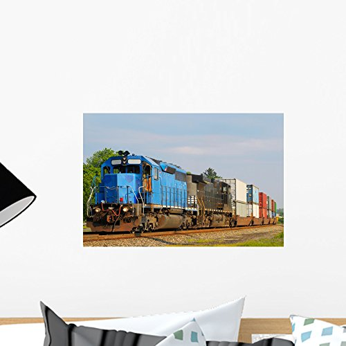 motives Pulling Train Wall Mural Peel and Stick Graphic (18 in W x 12 in H) WM166578 ()