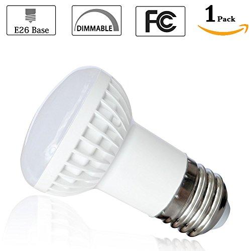 ((Pack of 1)5 Watt R14 Long Neck Reflector Flood 4000K Neutral White LED Bulb,E26 Medium/Standard Base Replacement 40 Watt Incandescent Light Bulb,120 Beam Angle,500Lumen,CRI 85+,120 Volt,Dimmable)