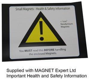 Paquet de 1 Argent Magnet Expert/® F999S-N52-1 N52 est Le Plus Fort Aimant dans Le monde-26 kg dattraction sud