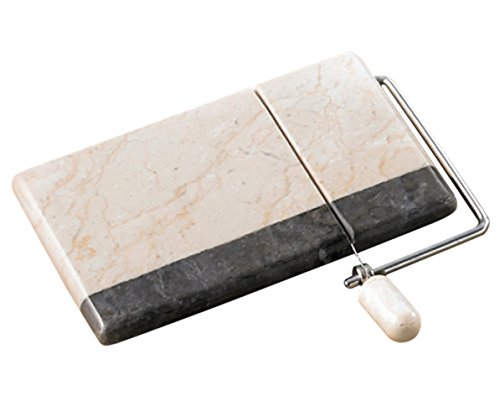 Creative Home Genuine 2 Tone Marble Stone Cheese Slicer and Cutter, 5 by 8