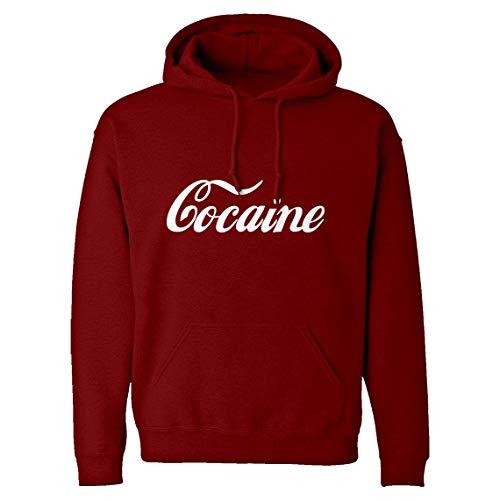 Hoodie Cocaine XX-Large Red Hooded Sweatshirt