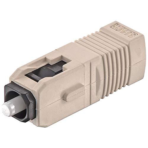 SC Fibre Optic Connector; Glass Fiber 50/125 um; 62.5/125 um Fibre Size