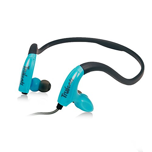 Amkette Trubeats Pulse S8 Neckband Design Sports Wired Headphones with Built in Microphone   1 Year Warranty  [Blue]