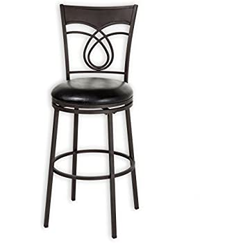 Amazon Com Madison Metal Barstool With Black Upholstered