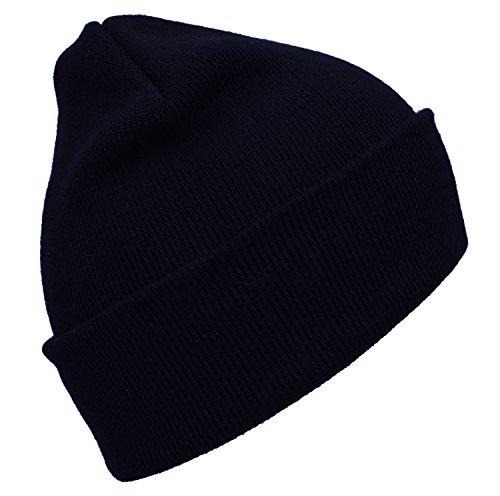 DIDKU Knit Ski Cap Soft Cap Black Winter Hat Black Beanie Cap Winter Hats Black