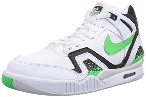 Nike Mens AIR TECH CHALLENGE II WHITE/BLACK/LIGHT ASH GREY/POISON 318408-100 9