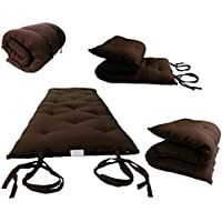 Brand New Brown Traditional Japanese Floor Futon Mattresses, Foldable Cushion Mats, Yoga, Meditaion.