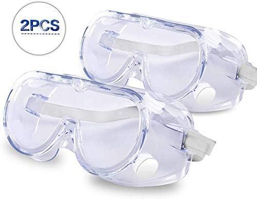 Gaojian 2 Piezas de Gafas de protección Gafas de Seguridad Gafas de Seguridad, Gafas de ventilación de Polvo y Arena a Prueba de protección para los Ojos y Gafas de Trabajo de Laboratorio