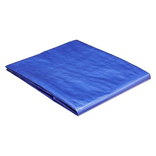 chollos oferta descuentos barato AmazonCommercial Lona impermeable de poliéster multiusos 1 8 x 2 5 m 0 127 mm de espesor azul pack de 20 unidades