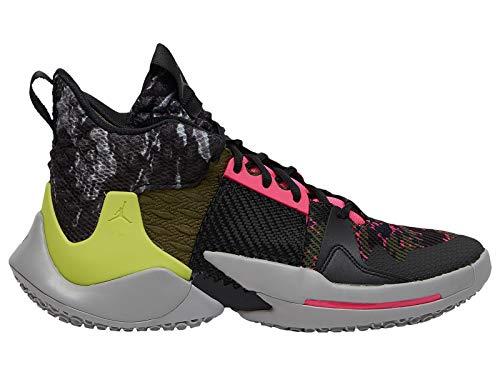 Nike Jordan Why Not Zer0.2 Basketball Shoes (11, Grey/Pink/Green)