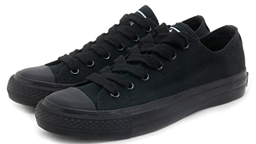 Difyou Womens Comfy Lace-up Casual Canvas Shoes For Couples Black2 d8K3S2b