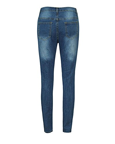 Taille Dchir Slim Casual Collant Haute Pants Jeans Crayon Leggings Femme Pantalons Bleu Denim qaUxwUBZ