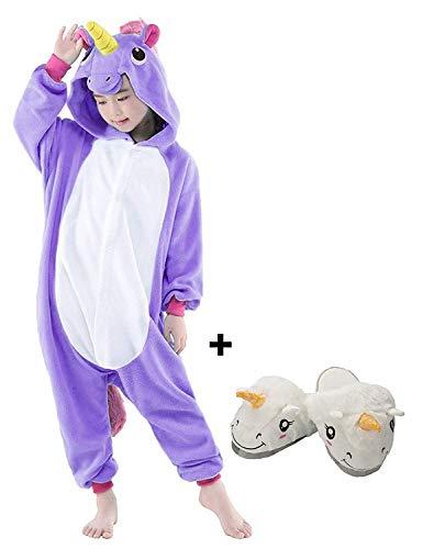 convenable 135cm Unisex Halloween Lath Nuit Kigurumi Ensemble Pyjama De blue Licorne 115 violet Combinaison Chaussure etiquette Chaussure Cosplay Noel Enfant 125 Costume pin vUEUw