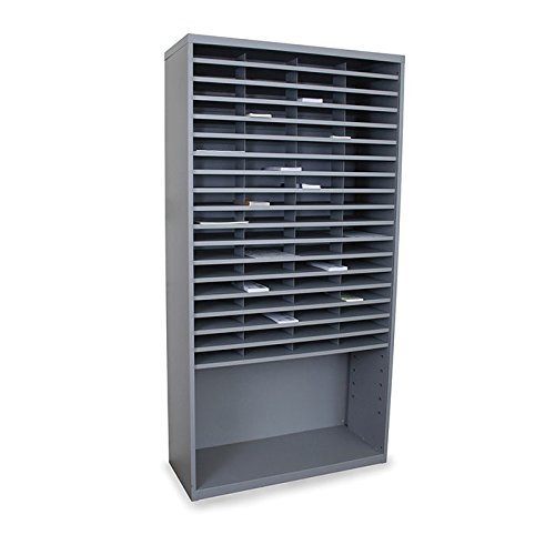 Mailroom Horizontal Sorter with 72 Pockets Finish: Slate Gray by Marvel