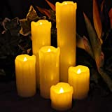 LED Lytes Timer Flameless Candles, Slim Set of