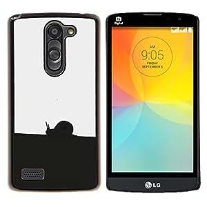 YiPhone /// Prima de resorte delgada de la cubierta del caso de Shell Armor - Negro Blanco Caracol - LG L Prime D337 / L Bello D337