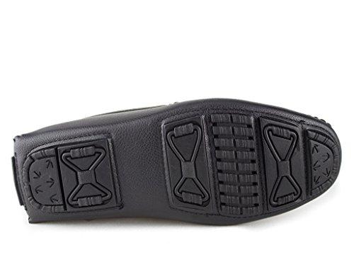 Zapatillas Hombre Mocasín Conducción Kirk-01 Slip On Hebilla Negro