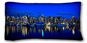 """Custom Characteristic City DIY Pillow Cover Size 20""""X36"""" suitable for Twin-bed"""