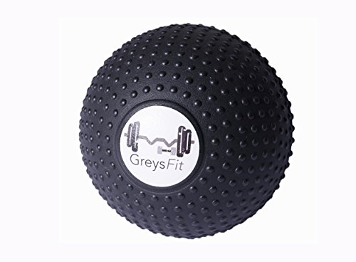 GreysFit Massage Ball 5 inch   Myofascial Release Ball for Mobility, Back Pain, Deep Tissue Trigger Point   Foam Roller, Sore Athletic Muscles, Exercise, Crossfit (5 INCH Ball)