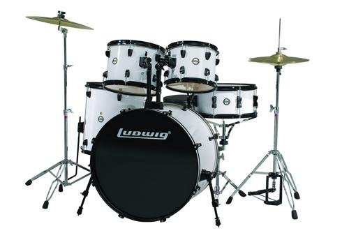 Ludwig 5 Piece Accent Drive Drum Set with Hardware &
