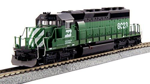 Kato USA Model Train Products HO EMD #8023 SD40-2 Mid Burlington Northern Standard Train ()