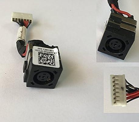 Conector de puerto de carga DC Jack con arnés de cable para Dell ...