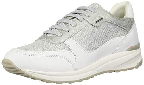 white C Zapatillas Mujer D silver Blanco Geox Airell C0434 Para 6wxPnvE