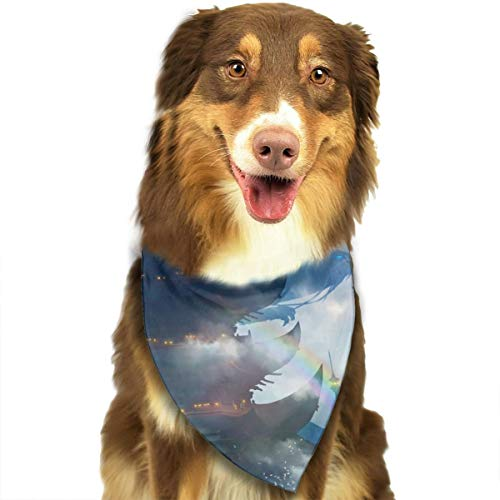 Pet Scarf Dog Bandana Bibs Triangle Head Scarfs Ancient Castle Accessories for Cats Baby Puppy]()