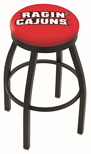 Louisiana-Lafayette Ragin' Cajuns HBS Black Swivel Bar Stool with Cushion (30')