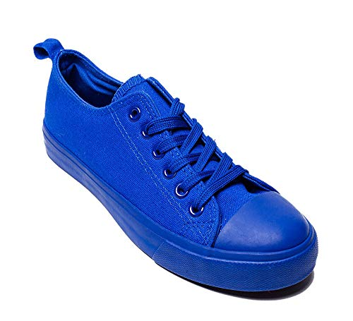 (Women's Sneakers Casual Canvas Shoes, Low Top Lace up Cap Toe Flats for)