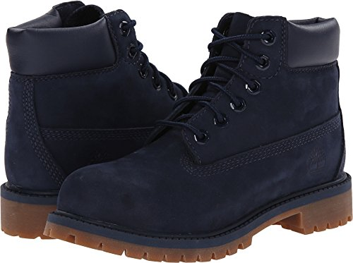Timberland Kids 6 in Premium Waterproof Navy Nubuck Boot - 1.5 M