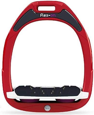 【Amazon.co.jp 限定】フレクソン(Flex-On) 鐙 ガンマセーフオン GAMME SAFE-ON Mixed ultra-grip フレームカラー: レッド フットベッドカラー: ホワイト エラストマー: プラム 07781