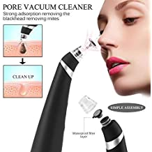 Blackhead Remover Pore Vacuum - Electric Pore Cleaner Removal Extractor Tool Device Comedo Vacuum Suction Microdermabrasion Machine Beauty Device for Facial Skin Treatment