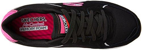 Skechers OG 82Flynn - Zapatillas Mujer Negro (Black/Hot Pink)