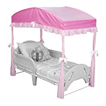 Delta Children Canopy for Toddler Bed, Pink