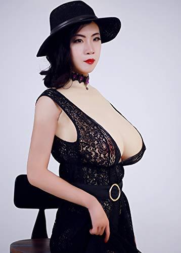 Soft Silicone Breast Forms Female Fake Boobs Mastectomy Prosthesis for Crossdresser Transgender Drag Queen Costume 2G Half Body