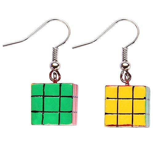 Rubik's Cube Earrings Made With Acrylic by JOE COOL