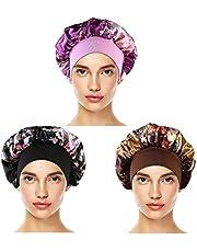 3 STKS satijnen slaapmuts vrouwen haar bonnet nacht slaap hoofdbedekking zachte slaapmuts