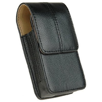 Premium Palm Centro 685 690 High Quality Genuine Leather Vertical Pouch with Rotating Swivel Belt Clip - Black